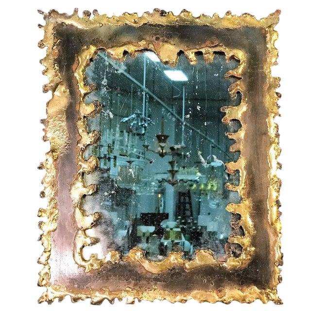 Paul Evans Style Brutalist Mirror - Image 8 of 8