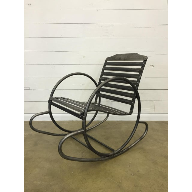 Wrought Iron Porch Rocking Chair - Image 7 of 8