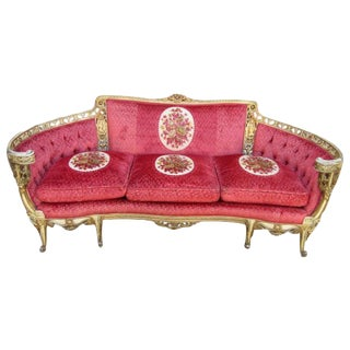 Vintage Carved Sofa