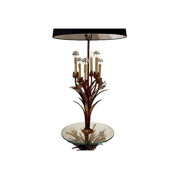 Sheaf of Wheat Gilt Floor Lamp - Image 5 of 6