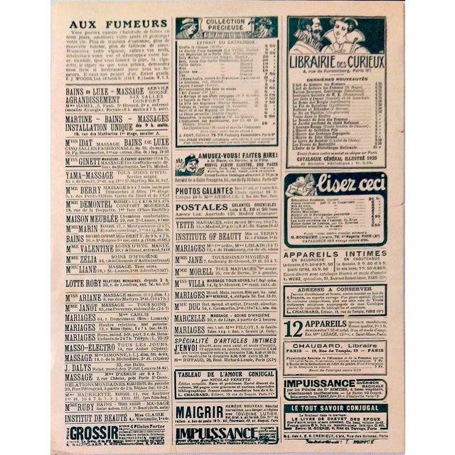 "Original 1920 ""En Promenade"" Fashion Print - Image 9 of 9"
