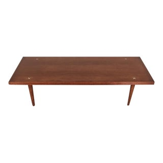 Mid-Century Modern Coffee Table With X Inlay