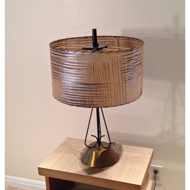 Atomic Era Wire and Brass Table Lamp - Image 4 of 7