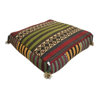 Turkish Hand Woven Floor Cushion Cover Sitting Pillow - 27″ X 27″