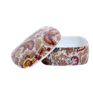Paisley Porcelan Lidded Box