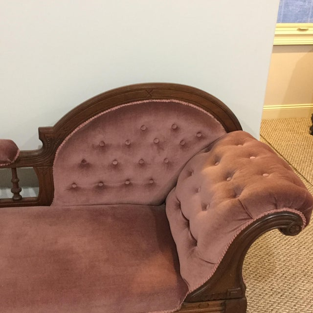 Antique Victorian Fainting Couch - Image 3 of 7