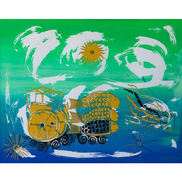 Barbara Vada Benson Seascape Serigraph - Image 3 of 6