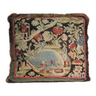 18th Century French Tapestry Decorative Pillow