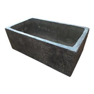 Textured Cast Concrete Planter