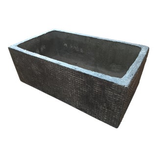Textured Cast Concrete Planter