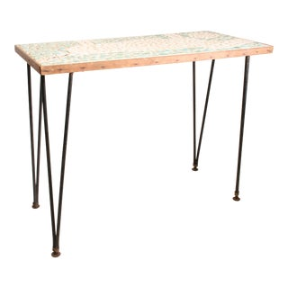 Mid Century Modern Tile Top Hall Table