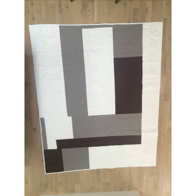 Image of Boho Chic Neutral Brown & Gray Quilt