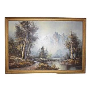 Mountain Creek Scene Oil Painting