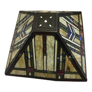 Art Deco Style Stained Glass Lamp Shade