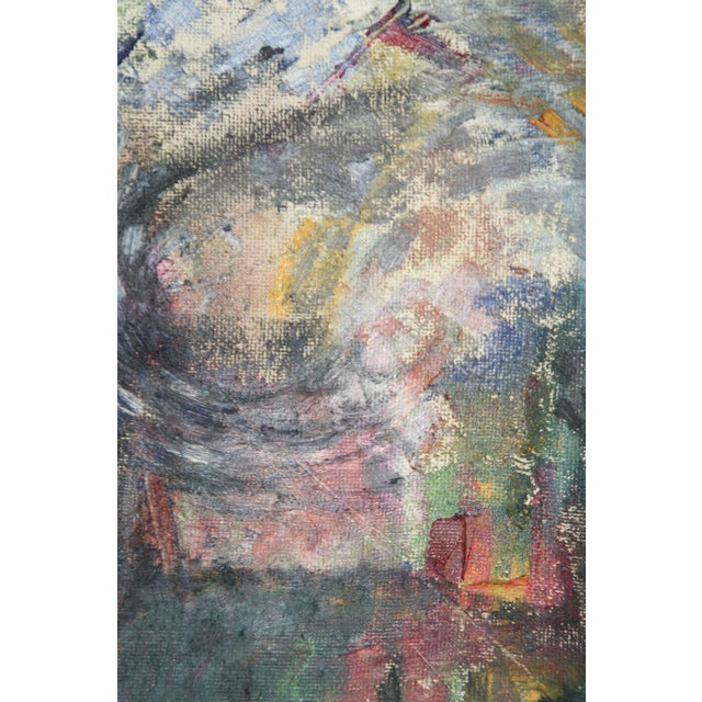 Vintage Julia Bureau Abstract Oil Painting - Image 5 of 7