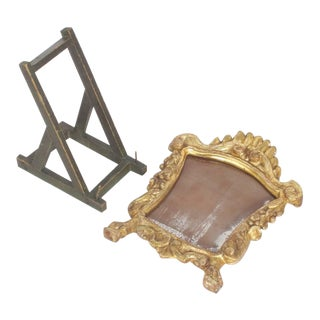 Italian Carved and Gilt Frame with Easel