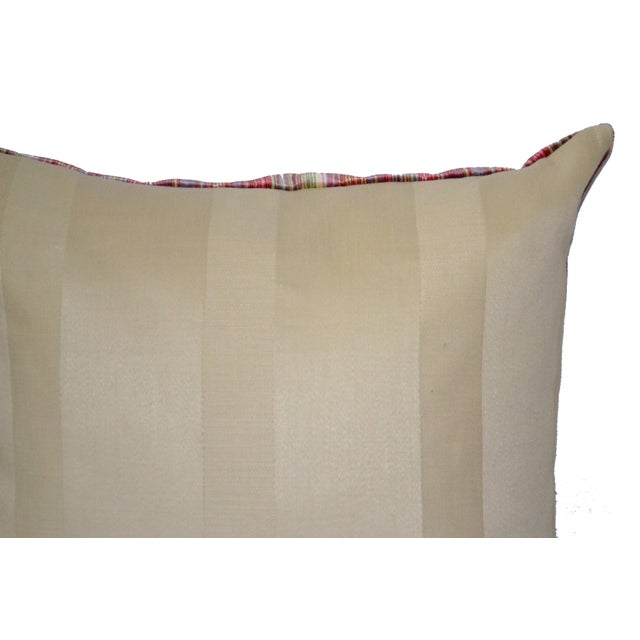 Scalamandré 100% Silk Velvet Rainbow Stripe Pillow - Image 5 of 10