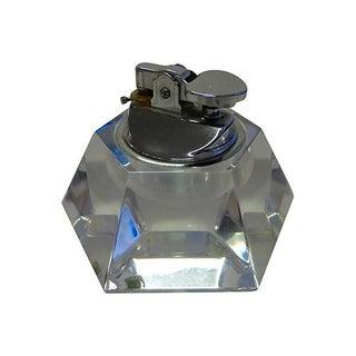 Twelve Facet Mid-Century Cut Glass Lighter