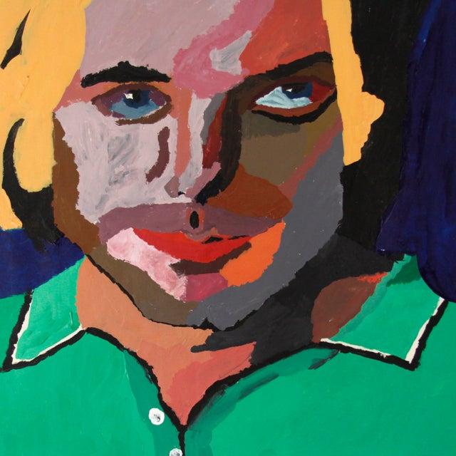 Vintage Pop Art Original Painting of a Man - Image 2 of 3