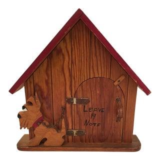 Vintage Cedar Dog House Note Box