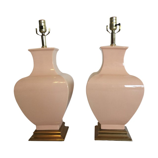 Fine Art Co. Pink Table Lamps - A Pair - Image 1 of 3