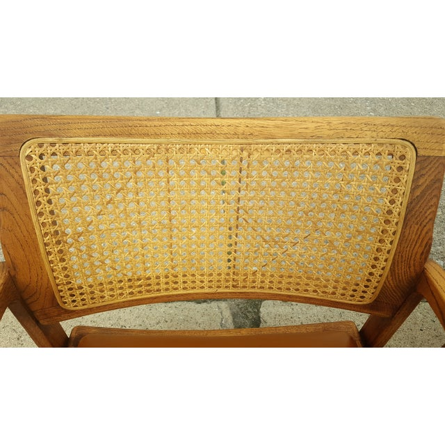 Vintage Rattan Back Guest Armchairs - Pair - Image 7 of 8