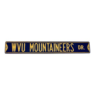 West Virginia University Street Sign