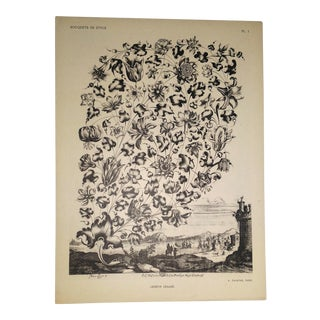 1945 Flowers and Leaves in the Wind Print