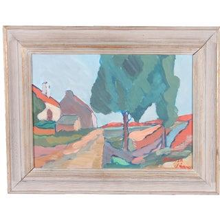 """Vintage """"Basilisa"""" Oil Painting on Board"""