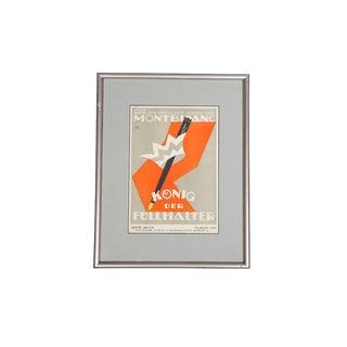 1919 Montblanc Poster König Der Füllhalter – Grete Gross