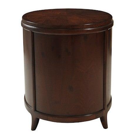 Myrtle Burl Oval Side Table - Image 3 of 6