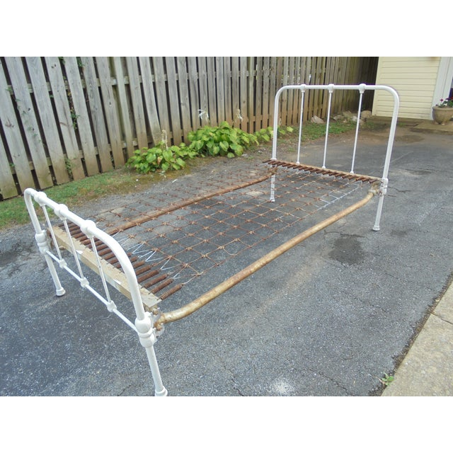 Vintage Iron Twin Bed - Image 5 of 8