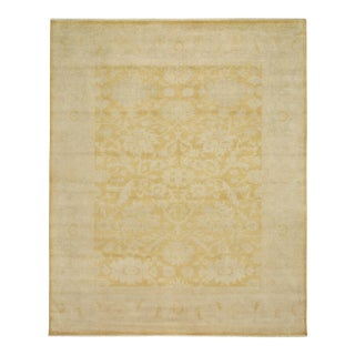 Gold Hand Knotted Area Rug - 8′ × 10′