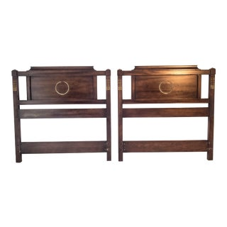 French Regency Style Solid Hardwood Twin Headboards - a Pair