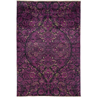 Suzani Hand Knotted Area Rug - 6' X 8'10""