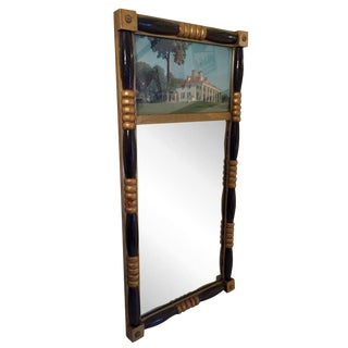 Antique Sheraton Federalist Style Mirror of Washington's Mount Vernon