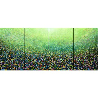 """Flower Field Riot"" Original Quad Painting"