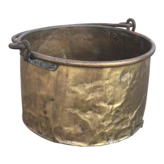 Large Copper Hand Forged Bucket