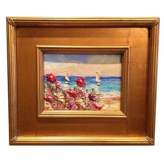 """Sailboats Seascape Abstract"" Original Oil Painting by Sarah Kadlic"