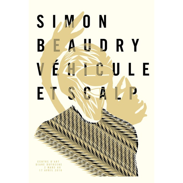 Minimalist Exhibition Poster, Vehicule and Scalp - Image 1 of 3