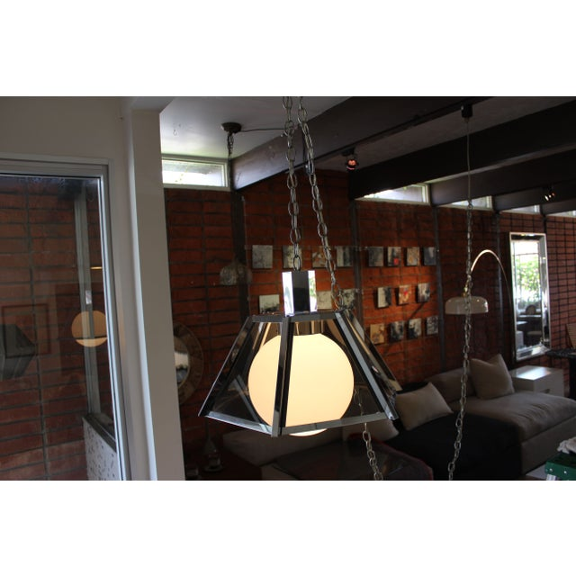Vintage Fredrick Ramond Chandelier Chrome - Image 4 of 7
