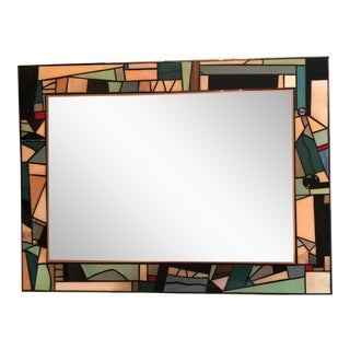 Modern Handcrafted Mosaic Glass Tiled Mirror