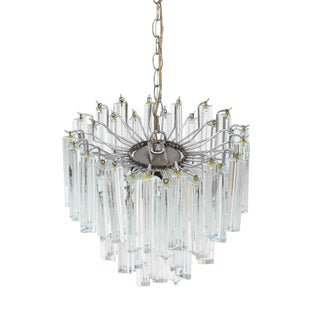 Medium Size Venini Glass Prisms Camer Light Fixture