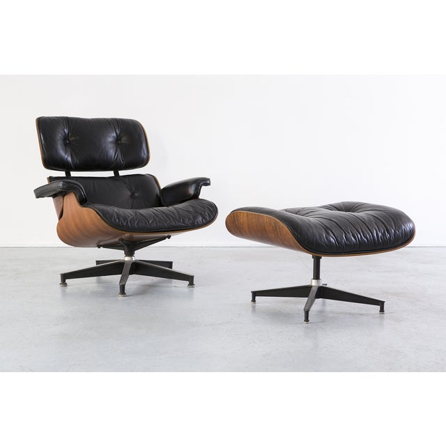 Eames 670 + 671 Lounge Chair & Ottoman - Image 2 of 7