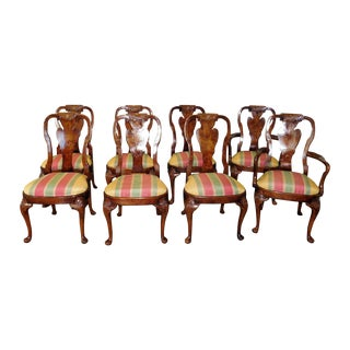 Walnut 20th Century Queen Anne Chairs - Set of 8