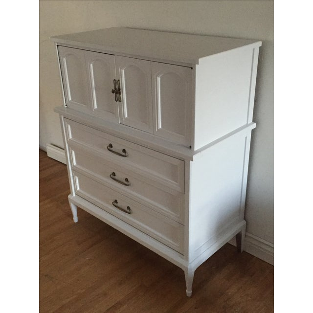 1950s White Fine Furniture Highboy Dresser Chairish