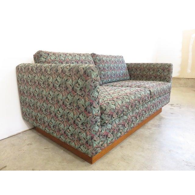 Mid-Century Milo Baughman Style Loveseat Sofa - Image 4 of 8