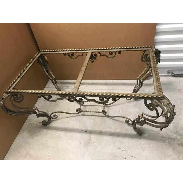 Antique French Iron Coffee Table Base