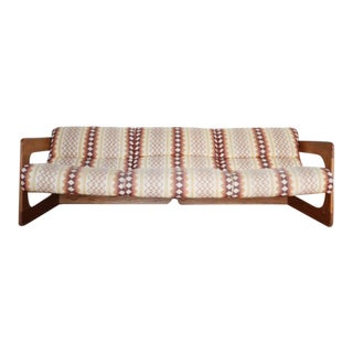 1970s Vintage Lou Hodges Modern Cantilevered Sofa