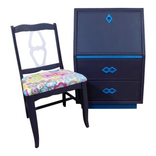 Child's Secretary Desk & Chair